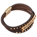 Wildflower Road, God Is Good All The Time Cuff Bracelet, Leather, Brown, 3 inch diameter