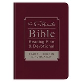 The 5-Minute Bible Reading Plan and Devotional, by Ed Strauss, Imitation Leather, Burgundy