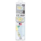 The Peel People, Dry Erase Peel and Stick U.S. Map, Removable, 12 x 18 Inches