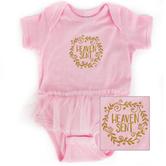New Ewe, Heaven Sent Tutu, Baby Short Sleeve Onesie, Pink, Newborn-18 Months