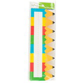 Renewing Minds, Colorful Pencils Nameplates, 9.25 x 2.5 Inches, Multi-colored, 36 Count