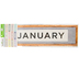 Farmhouse Lane Collection, Monthly Calendar Headers Set, 5 x 16 Inches, 12 Pieces