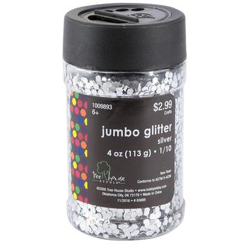 Tree House Studio, Jumbo Glitter, Silver, 1/10, 4 ounces