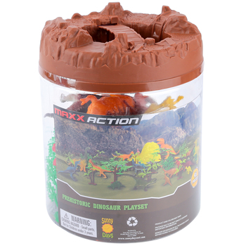 Sunny Days, Prehistoric Dinosaur Playset Bucket, 45 Pieces, Ages 5 and Older