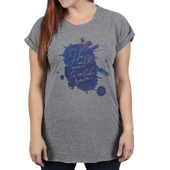 NOTW, Hosea 6:3 He Will Come To Us Like Rain, Women's Dolman Cuffed Sleeve T-shirt, Charcoal, X-Small