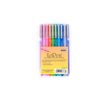 Marvy, LePen Fine Point Pens, 1 Each of 10 Colors