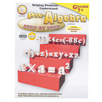 Carson-Dellosa, Helping Students Understand Pre-Algebra, Reproducible, 128 Pages, Grades 7 and up