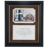 Carson Home Accents, Firefighter Framed Prayer, PVC, 12 x 10 inches