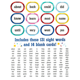 Colorfetti Collection, Sight Words Bulletin Board Set, 145 Pieces