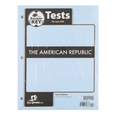 BJU Press, The American Republic Test Packet Answer Key, 4th Edition, Grade 8