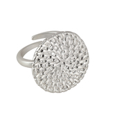 Set Free, Round Medallion Adjustable Ring, Zinc Alloy, Silver
