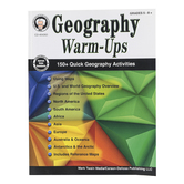 Carson Dellosa, Geography Warm-Ups Resource Book, Reproducible Paperback, 96 Pages, Grades 5-8