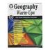 Carson Dellosa, Geography Warm-Ups Resource Book, Reproducible Paperback, 96 Pages, Grades 5-8