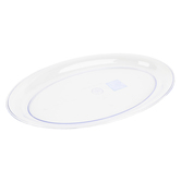 Clear Plastic Serving Tray, Oval, 21 x 14 Inches, 1 Each
