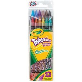 Crayola, Twistables Colored Pencils, 12 Count