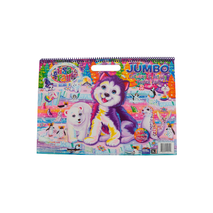 Kappa Books, Lisa Frank Jumbo Coloring & Activity Poster Pad, Spiral, 64  Pages, Ages 3 And Up Mardel 3655578
