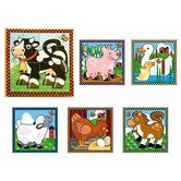 Melissa & Doug, Farm Cube Wooden Puzzle, Ages 3 to 6 Years Old, 16 Pieces