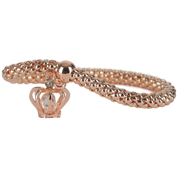 Modern Grace, Psalm 32:22 Crown Stretch Bracelet, Zinc Alloy, Rose Gold