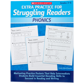Scholastic, Extra Practice for Struggling Readers: Phonics, Reproducible, 80 Pages, Grades 3-6