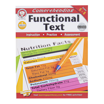Carson-Dellosa, Comprehending Functional Text Features Workbook, Paperback, 64 Pages, Grades 6-8