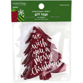 Brother & Sister Design Studio, We Wish You A Merry Christmas Tree Gift Tags