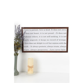 1 Corinthians 13:4-8 Love Never Fails Wall Decor, MDF, 13 1/4 x 24 x 1 1/2 inches
