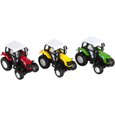 Master Toys and Novelties, Inc., Farm Tractor Die-Cast Pullback Toy Car, 4 inches
