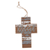 Blessed Distressed Wall Cross, MDF, Brown, White, and Gray, 8 1/4 x 3 1/2 inches
