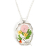 Faith in Bloom, Branch Frame with Bird Floral Pendant Necklace, Zinc Alloy, Silver, 20 Inch Chain
