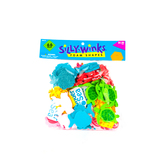 Silly Winks, Under the Sea Foam Stickers, 1 3/4 - 2 1/2 inches, Assorted Colors, 66 count
