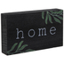 Home With Greenery Wood Tabletop Décor, Black, Green, White, 6 x 3 1/2 x 1 inches