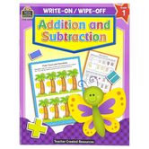 Teacher Created Resources, Addition and Subtraction Write-On Wipe-Off Book, 7 x 9 Inches, Grade 1