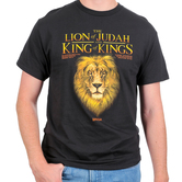 Kerusso, Revelation 5:5 and 19:16 Lion of Judah King of Kings, Men's Short Sleeved T-Shirt, Black, S-3XL