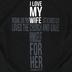 NOTW, Ephesians 5:25 I Love My Wife Cross, Men's Short Sleeve T-Shirt, Black, 2X-Large