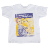 NOTW, Philippians 4:13 All Things, Kid's Short Sleeve T-shirt, White, 3T-Youth Large