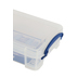 Really Useful Box, Storage Box with Latching Lid, Clear, 7.06 x 9.44 x 3.06 Inches, 2 Pieces