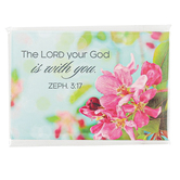Christian Art Gifts, Zephaniah 3:17 The Lord is With You Magnet, 2 1/4 x 3 inches