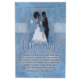 Dexsa, Whispers Of The Heart, A Marriage Is A Promise Tabletop Plaque, MDF, 6 x 9 inches