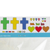 Playside Creations, Foam Cross Kit, 4 1/4 x 6 1/4 Inches, 200 Pieces, Makes 24