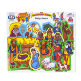 Little Folk Visuals, Beginner's Bible Baby Jesus Felt Set, 16 Pieces