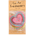 Natural Life, Heart Air Freshener, Rose Musk Scent, Pressed Paper, Pink, 3 1/2 Inches, Set of 2