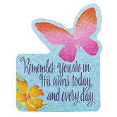 Product Concept Manufacturing, Remember You Are In His Arms Butterfly Magnet, 3 1/4 x 2 1/2 inches