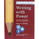 Christian Liberty Press, Writing With Power, Book 4, 2nd Ed, Paperback, 59 Pages, Grade 4