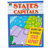 Teacher Created Resources, States and Capitals, Paperback, 80 Pages, Grade 4-5