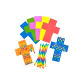 Roylco, Cross Weaving Mat Kit, Assorted Colors, Makes 24 Crosses