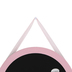 Bright Ideas, Round Hanging Chalkboard, Soft Pink, 11 3/4 inches