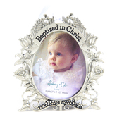 Abbey and CA Gift, Baptized In Christ Photo Frame, Holds 2 x 2 1/2 inch Photo, 3 1/4 x 3 inches