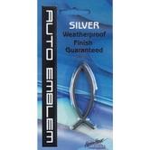 Small Silver Fish Auto Emblem