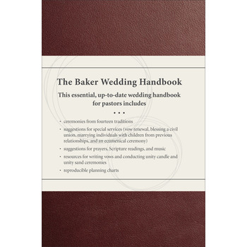 The Baker Wedding Handbook, by Paul E. Engle, Hardcover