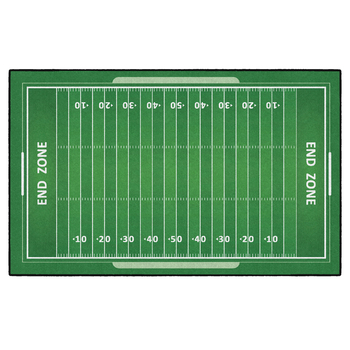 Flagship Carpets, Activity Football Field Rug, Green and White, 5 x 8 Feet